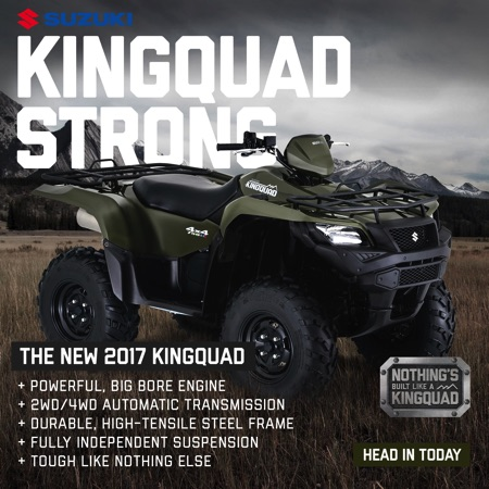 2018 suzuki king quad release date.  suzuki 2017 kingquad on 2018 suzuki king quad release date a